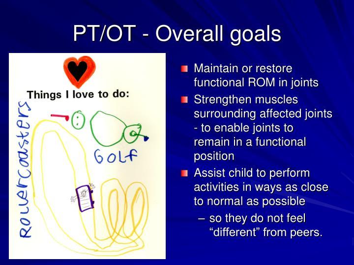 PT/OT - Overall goals