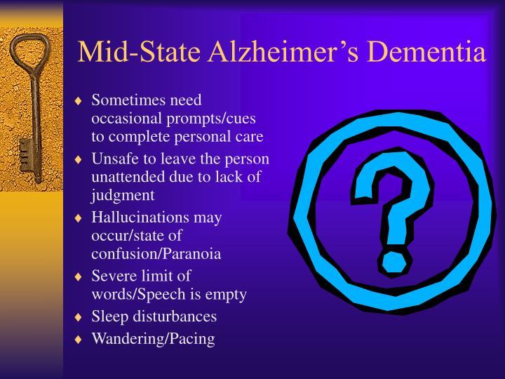 Mid-State Alzheimer's Dementia