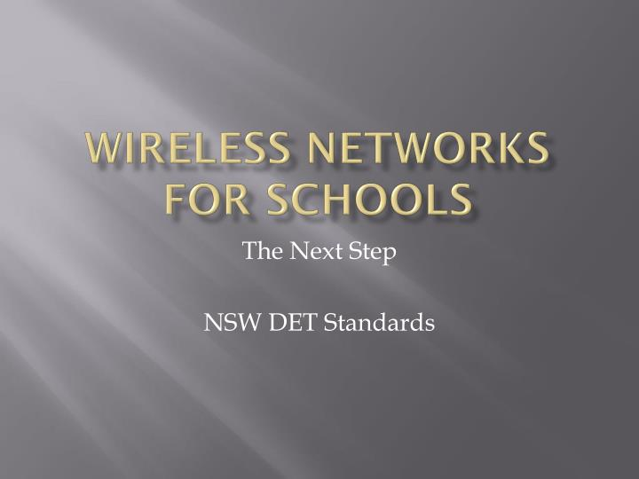 wireless networks for schools n.
