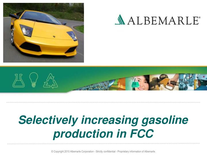 selectively increasing gasoline production in fcc n.
