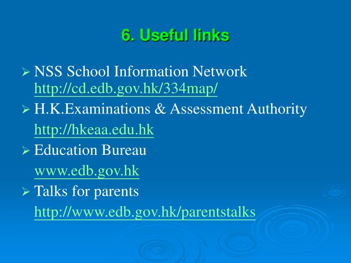 6. Useful links