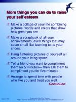 more things you can do to raise your self esteem