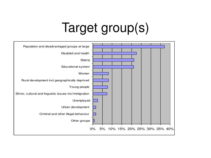 Target group(s)