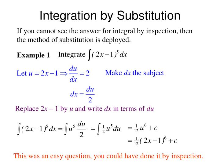 integration by substitution n.