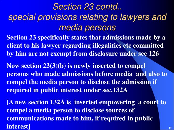 Section 23 contd..