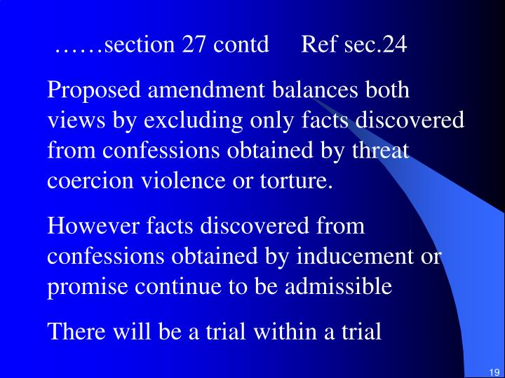 ……section 27 contd     Ref sec.24