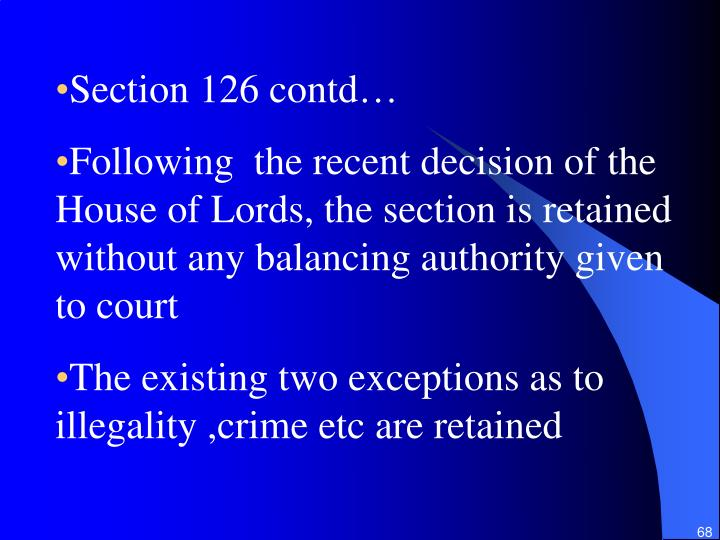 Section 126 contd…