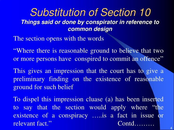 Substitution of Section 10