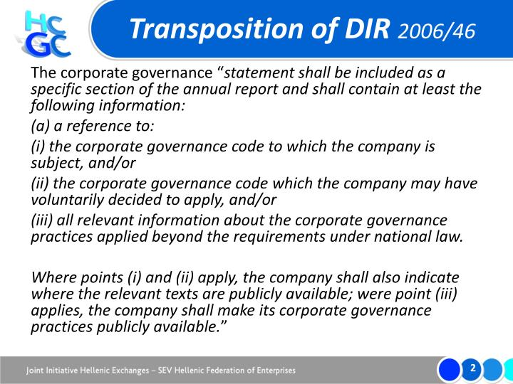 Transposition of dir 2006 46