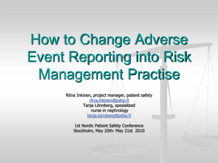 Adverse drug reaction monitoring and reporting.
