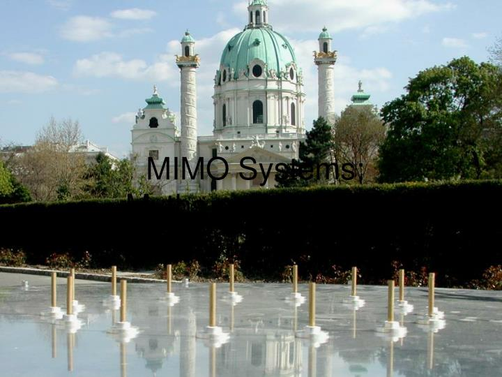 mimo systems myths and realities n.