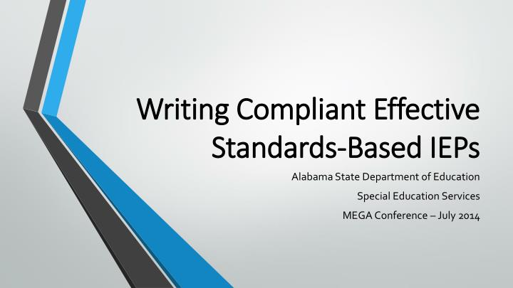 writing compliant effective standards based ieps n.