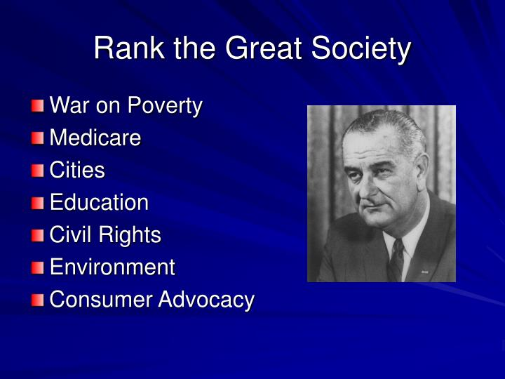 Rank the Great Society
