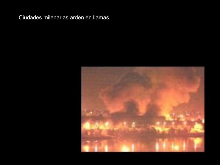 Ciudades milenarias arden en llamas.