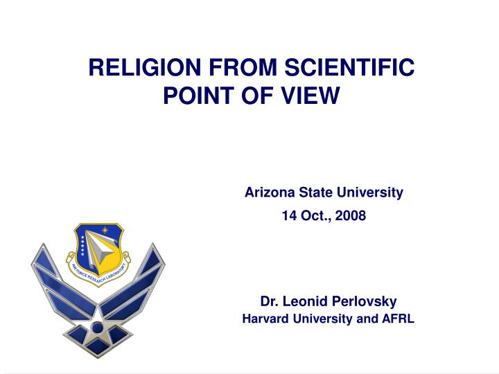 religion from scientific point of view n.