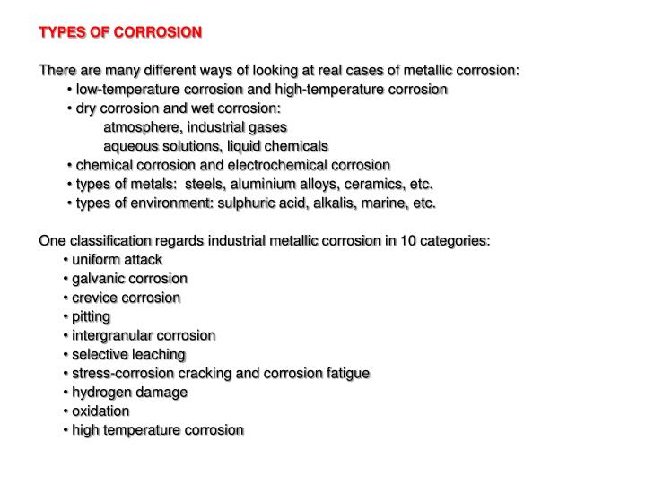 Ppt Chapter 3 Corrosion Of Metals Powerpoint Presentation Id