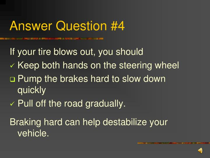 Answer Question #4