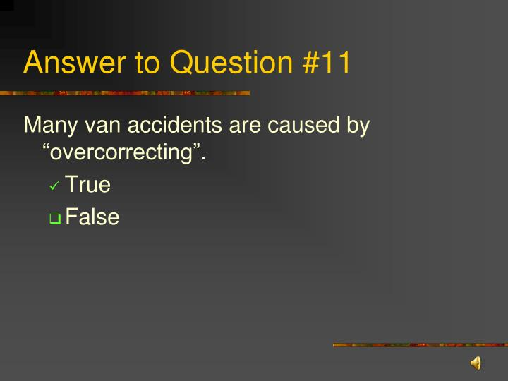 Answer to Question #11