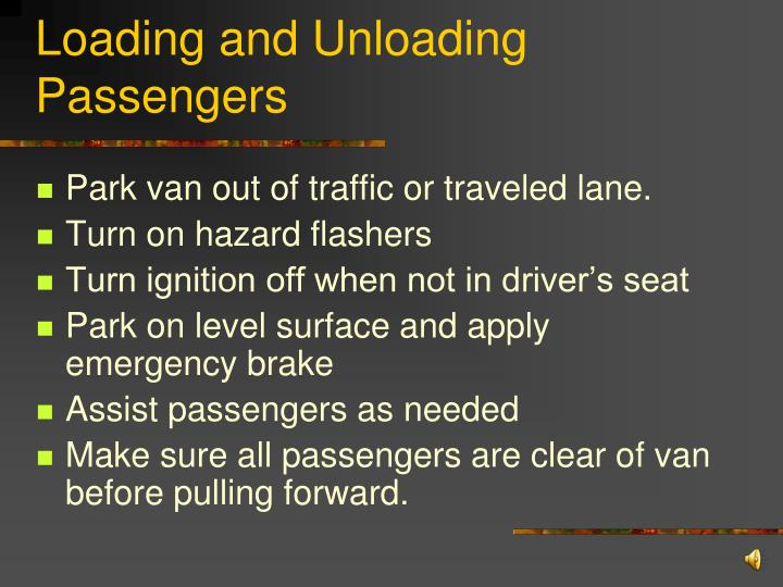 Loading and Unloading Passengers