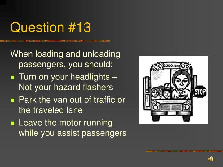 Question #13