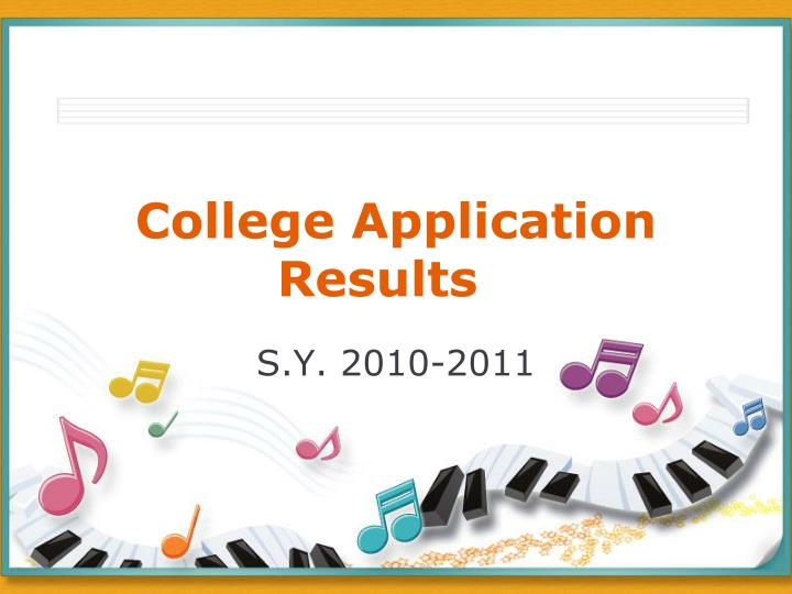 college application results n.