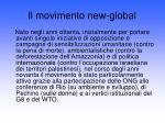 il movimento new global