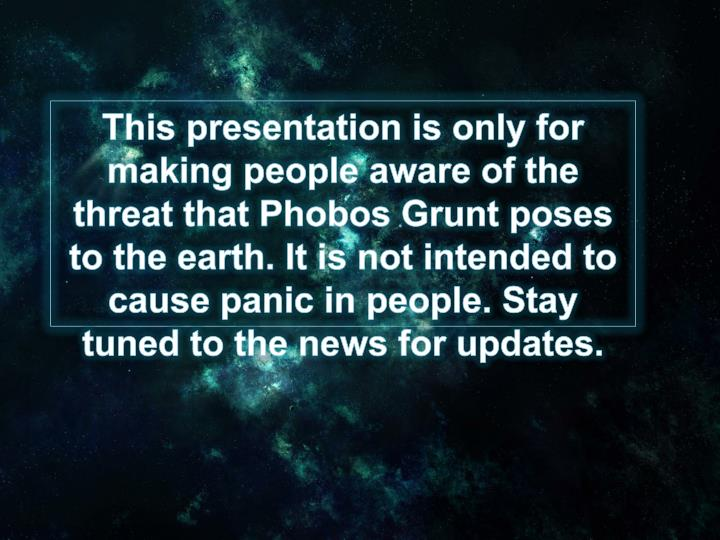 This presentation is only for making people aware of the threat that