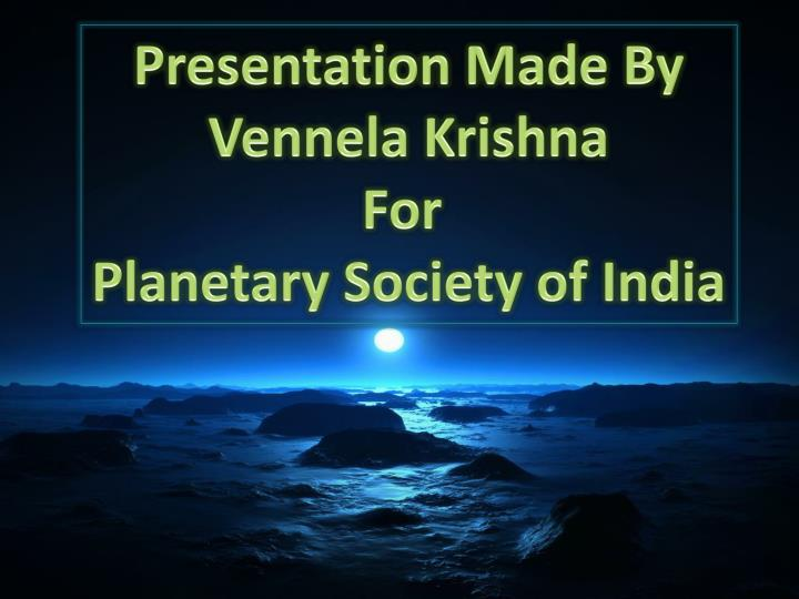 Presentation Made By