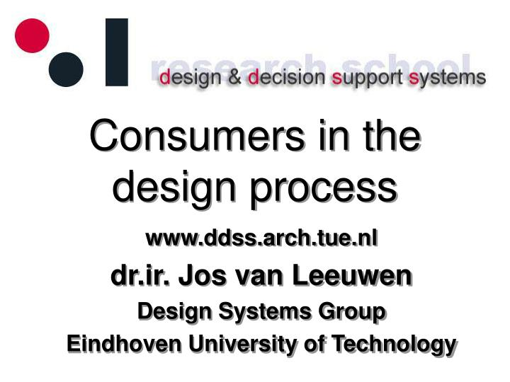 consumers in the design process n.