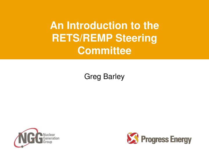 an introduction to the rets remp steering committee n.