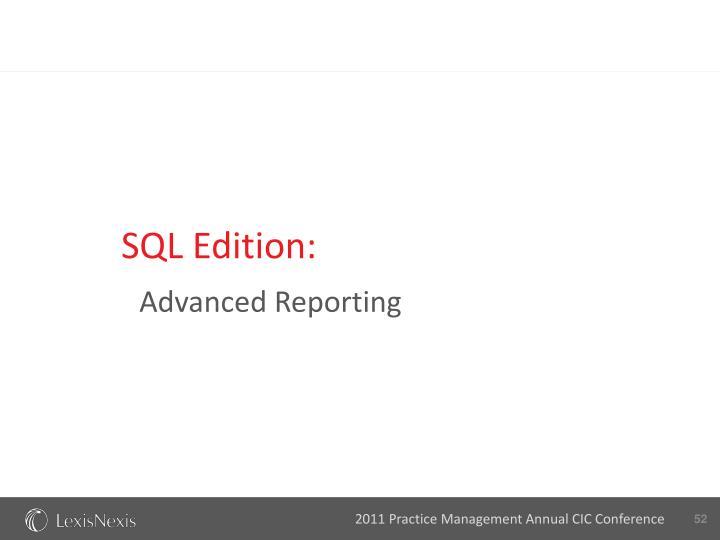 SQL Edition: