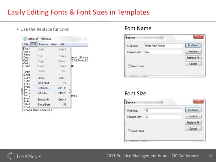 Easily Editing Fonts & Font Sizes in Templates