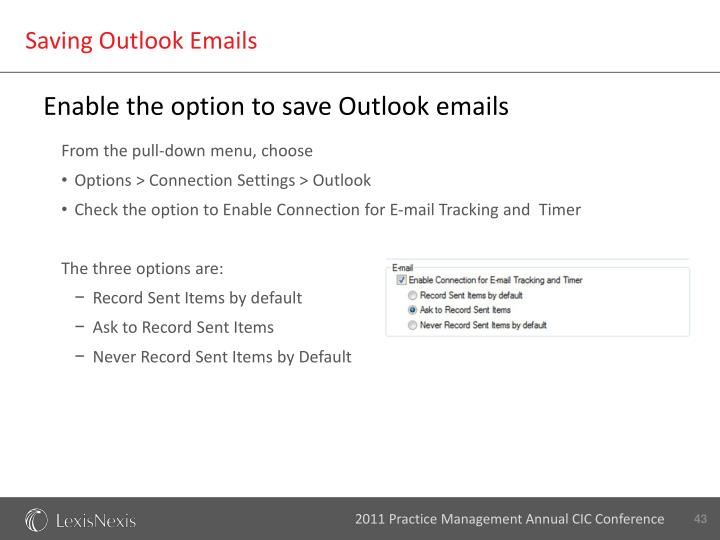 Saving Outlook Emails