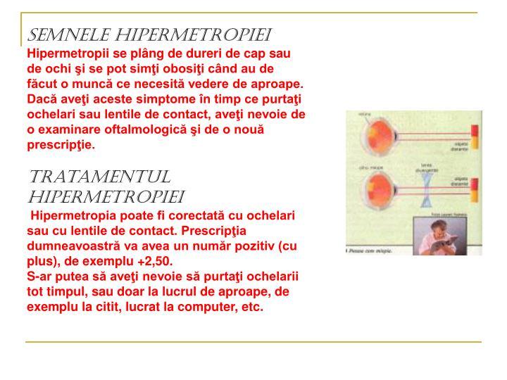Semnele hipermetropiei