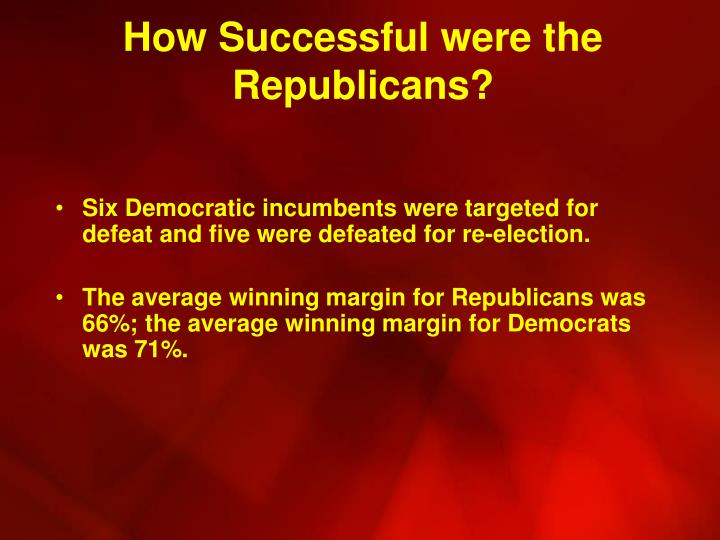 How Successful were the Republicans?