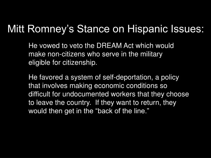Mitt Romney's Stance on Hispanic Issues: