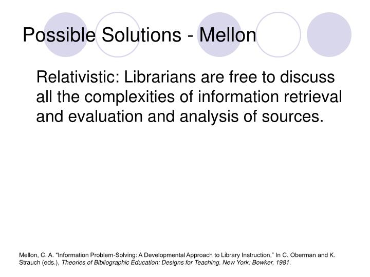 Possible Solutions - Mellon