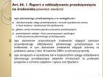 art 66 1 raport o oddzia ywaniu przedsi wzi cia na rodowisko powinien zawiera