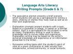 language arts literacy writing prompts grade 6 7
