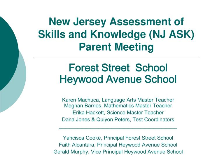 new jersey assessment of skills and knowledge nj ask parent meeting