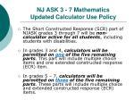 nj ask 3 7 mathematics updated calculator use policy