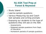 nj ask test prep at forest heywood