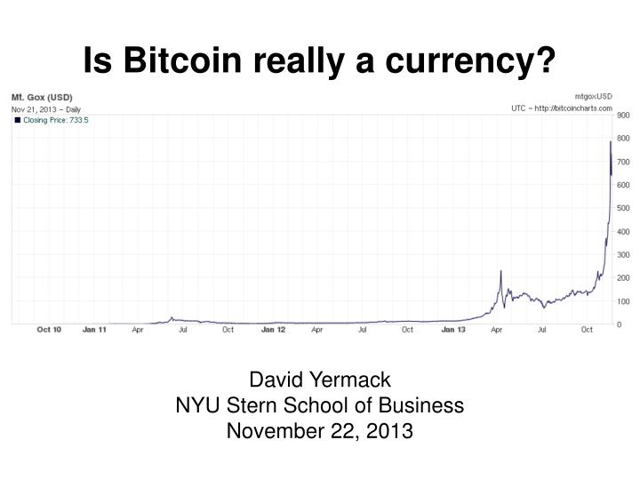 is bitcoin really a currency n.