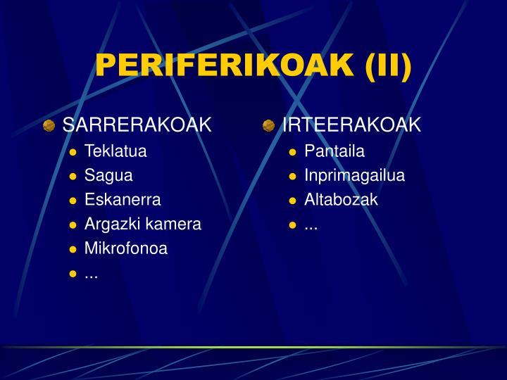SARRERAKOAK