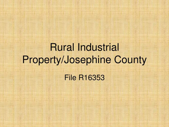rural industrial property josephine county n.