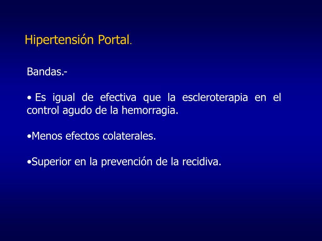 Colaterales hipertensión portal ppt