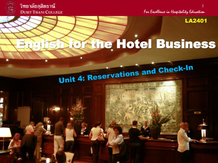 english for the hotel business n.