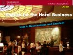 english for the hotel business
