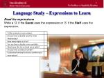 language study expressions to learn