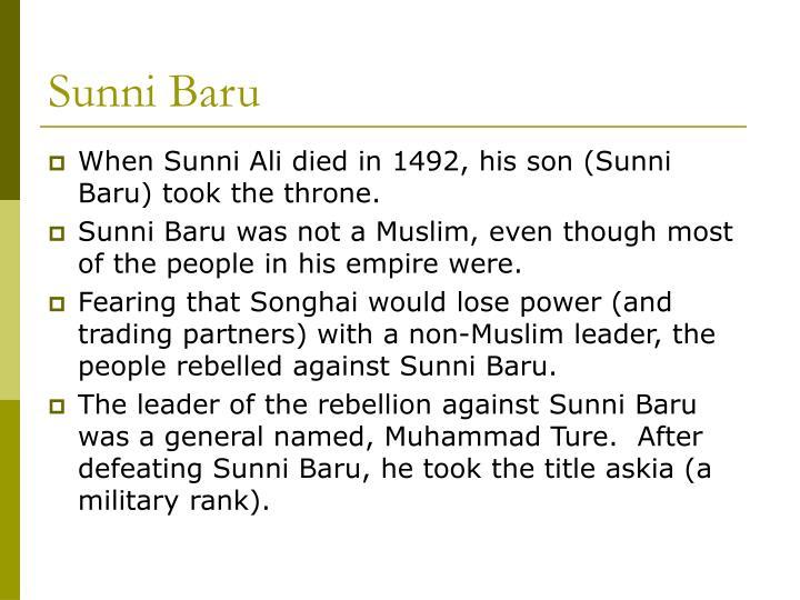 Sunni Baru